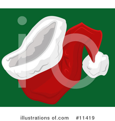 Royalty-Free (RF) Santa Hat Clipart Illustration by Geo Images - Stock Sample #11419