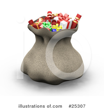 Royalty-Free (RF) Santas Sack Clipart Illustration by KJ Pargeter - Stock Sample #25307