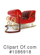 Royalty-Free (RF) Santas Sleigh Clipart Illustration #1086918