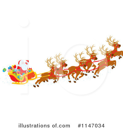 Reindeer Clipart #1147034 by Alex Bannykh