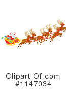 Royalty-Free (RF) Santas Sleigh Clipart Illustration #1147034