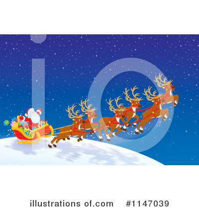 Royalty-Free (RF) Santas Sleigh Clipart Illustration by Alex Bannykh - Stock Sample #1147039