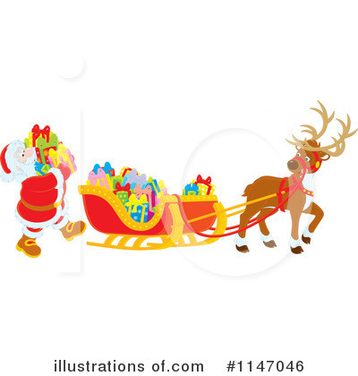 Royalty-Free (RF) Santas Sleigh Clipart Illustration #1147046 by Alex