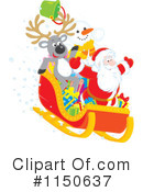 Royalty-Free (RF) Santas Sleigh Clipart Illustration #1150637