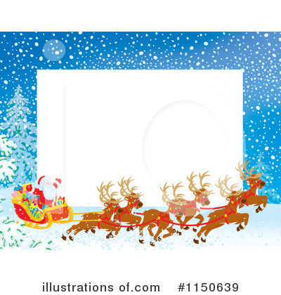 Royalty-Free (RF) Santas Sleigh Clipart Illustration by Alex Bannykh - Stock Sample #1150639