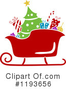 Santas Sleigh Clipart #1193656 by BNP Design Studio
