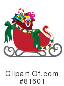 Royalty-Free (RF) Santas Sleigh Clipart Illustration #81601