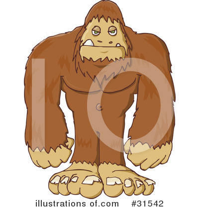 Royalty-Free (RF) Sasquatch Clipart Illustration by PlatyPlus Art - Stock Sample #31542