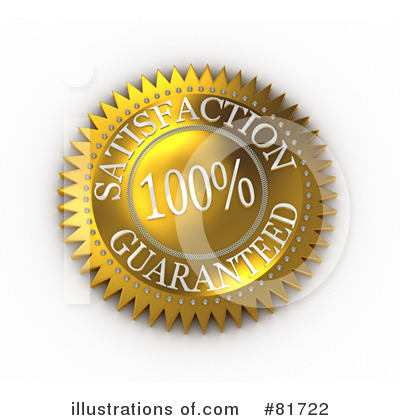 Royalty-Free (RF) Satisfaction Guarantee Clipart Illustration by stockillustrations - Stock Sample #81722