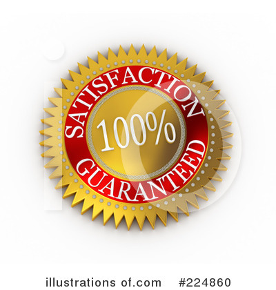 Royalty-Free (RF) Satisfaction Guaranteed Clipart Illustration by stockillustrations - Stock Sample #224860
