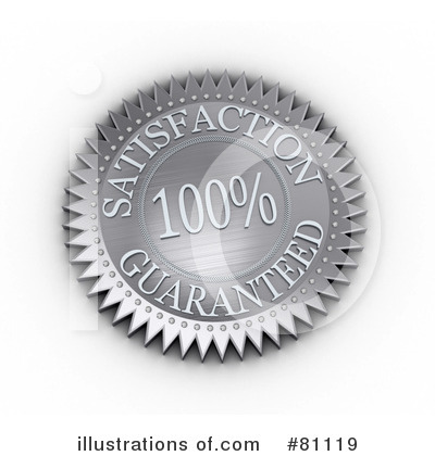 Royalty-Free (RF) Satisfaction Guaranteed Clipart Illustration by stockillustrations - Stock Sample #81119