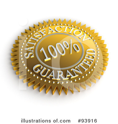 Royalty-Free (RF) Satisfaction Guaranteed Clipart Illustration by stockillustrations - Stock Sample #93916