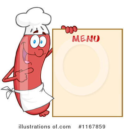 Chef Sausage Clipart #1167859 by Hit Toon