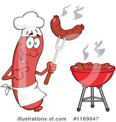 Chef Sausage Clipart #1169047 by Hit Toon
