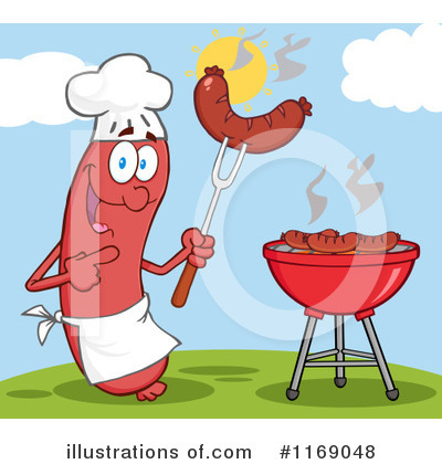 Chef Sausage Clipart #1169048 by Hit Toon