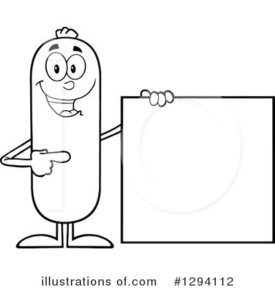 Sausage Character Clipart #1294112 by Hit Toon