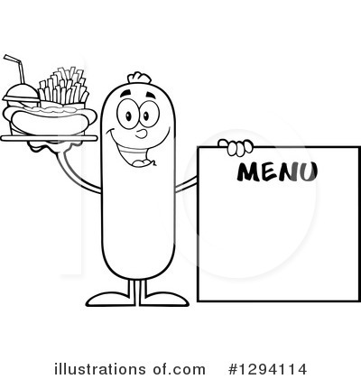 Sausage Character Clipart #1294114 by Hit Toon