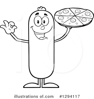 Sausage Character Clipart #1294117 by Hit Toon