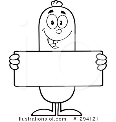 Sausage Character Clipart #1294121 by Hit Toon