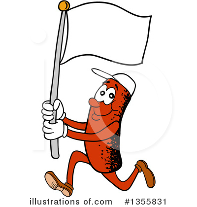 White Flag Clipart #1355831 by LaffToon