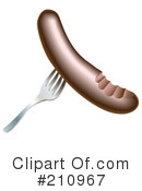 Sausage Clipart #210967 by AtStockIllustration