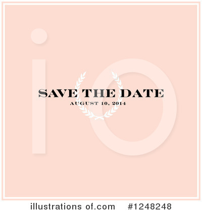 Royalty-Free (RF) Save The Date Clipart Illustration by BestVector - Stock Sample #1248248