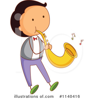 Saxophone Clipart #1140416 by Graphics RF