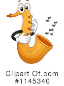 Royalty-Free (RF) Saxophone Clipart Illustration #1145340