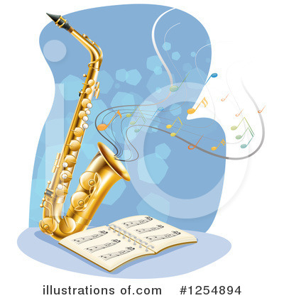 Saxophone Clipart #1254894 by Graphics RF
