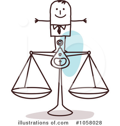 Royalty-Free (RF) Scales Clipart Illustration by NL shop - Stock Sample #1058028