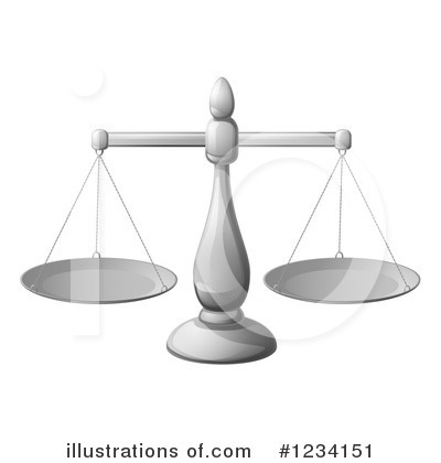 Scales Of Justice Clipart #1234151 by AtStockIllustration