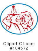 Scales Of Justice Clipart #104572