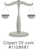 Royalty-Free (RF) Scales Of Justice Clipart Illustration #1128681