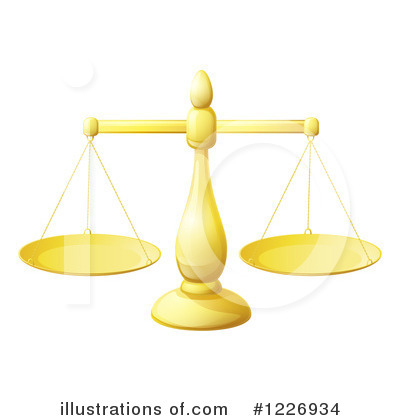 Royalty-Free (RF) Scales Of Justice Clipart Illustration by AtStockIllustration - Stock Sample #1226934