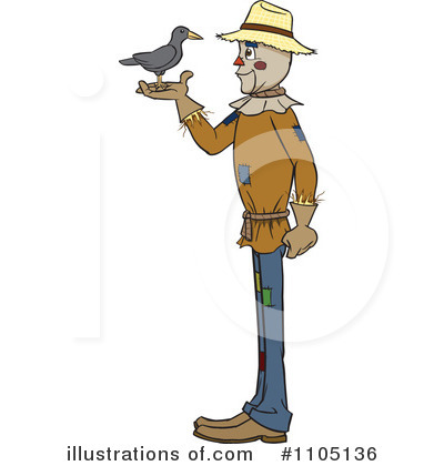 Scarecrow Clipart #1105136 by Cartoon Solutions