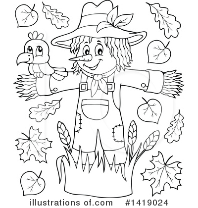 Scarecrow Clipart #1419024 by visekart