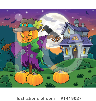 Scarecrow Clipart #1419027 by visekart
