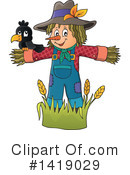 Royalty-Free (RF) Scarecrow Clipart Illustration #1419029