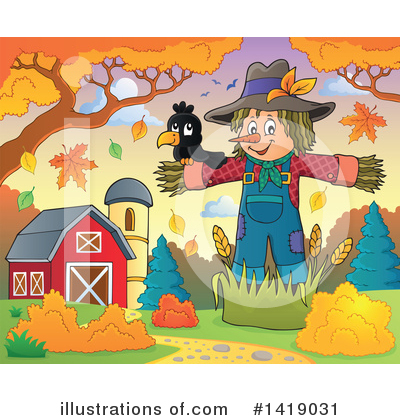 Scarecrow Clipart #1419031 by visekart