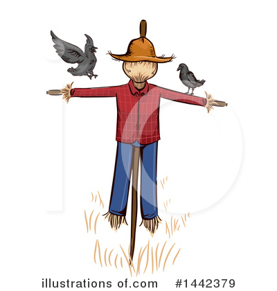 Scarecrow Clipart #1442379 by BNP Design Studio