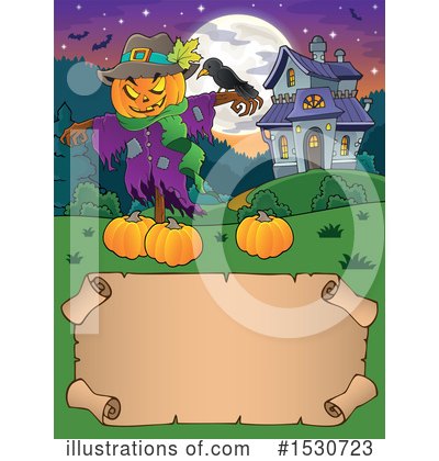 Royalty-Free (RF) Scarecrow Clipart Illustration by visekart - Stock Sample #1530723
