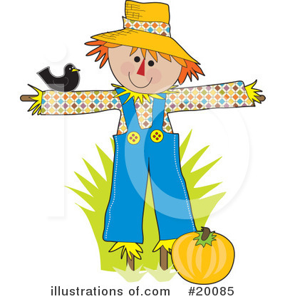 Royalty-Free (RF) Scarecrow Clipart Illustration by Maria Bell - Stock Sample #20085