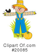 Scarecrow Clipart #20085 by Maria Bell