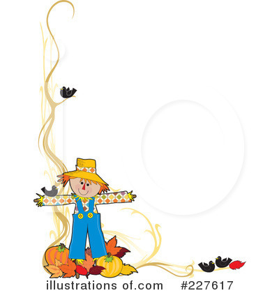 Royalty-Free (RF) Scarecrow Clipart Illustration by Maria Bell - Stock Sample #227617