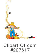 Royalty-Free (RF) Scarecrow Clipart Illustration #227617