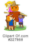 Royalty-Free (RF) Scarecrow Clipart Illustration #227868