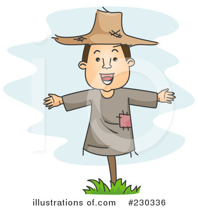 Scarecrow Clipart #230336 by BNP Design Studio