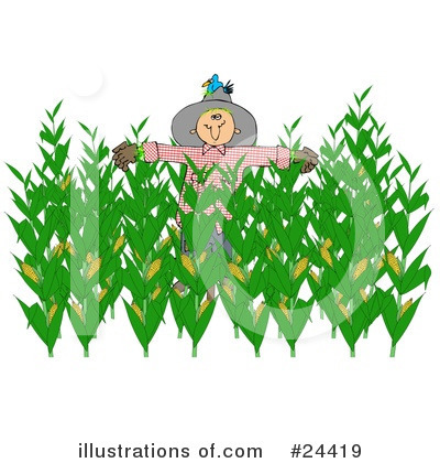 Royalty-Free (RF) Scarecrow Clipart Illustration by djart - Stock Sample #24419