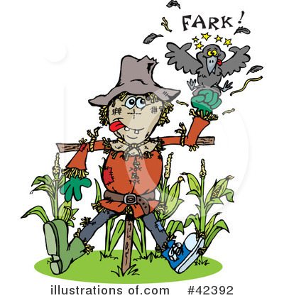 Scarecrow Clipart #42392 by Dennis Holmes Designs