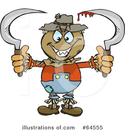 Scarecrow Clipart #64555 by Dennis Holmes Designs